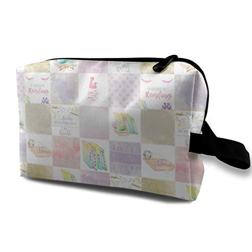 0254e66a9436 The Book Was Better Travel Makeup Cute Cosmetic Case Organizer Portable  Storage Bag for Women
