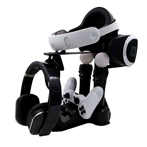 VR Display Station Soporte de almacenamiento con organizador para PlayStation VR PSVR HTC VIVE estantes de exhibición Oculus Rift poseedor titular de la viviendas