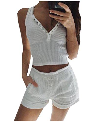 EKU FASHION Damen Trainingsanzug Gr. XS, weiß Velours-activewear-set