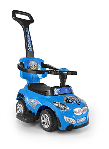 Milly Mally 3-in-1 Happy Ride On Car (Blue)