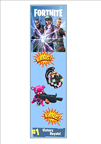Pack of 12 FORTNITE Bookmarks Dancing Dancers Battle Victory Royale Boogie Bomb 300gsm White Card 20cm x 5cm Party Bags Stocking Fillers