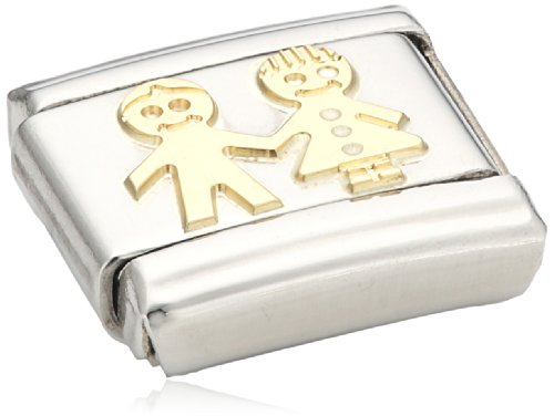 Nomination Composable Classic Fun Child Stainless Steel and 18K Gold