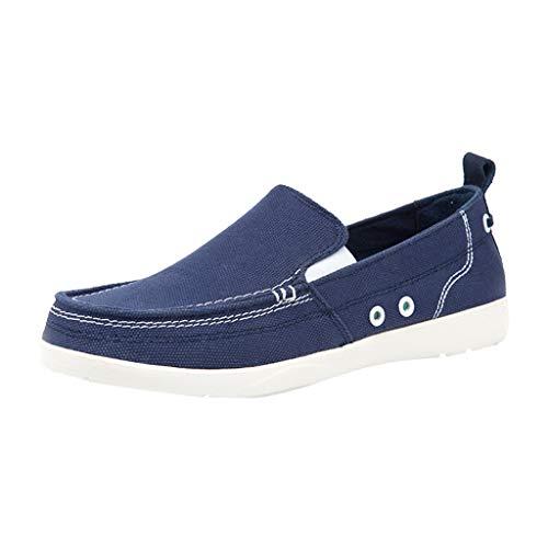 FiveFeedback Scarpe da Ginnastica Basse Uomo Uomo Sneakers di Tela in Cotone con Finiture a Contrasto Scarpe da Uomo Tinta Unita in Tela di Piselli Selvatici di Tendenza Scarpe Vecchie di Pechino