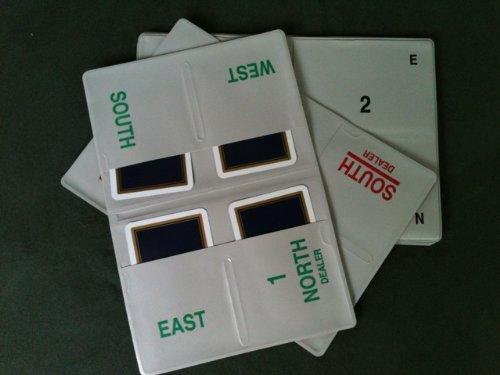 Bridge - Boards silber-grau, weich - Nr. 1-16, inkl. Spielkarten (rot/blau)