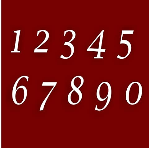 Premier Quality,Glass Look Acrylic Stylish House number Sign 5cm Each