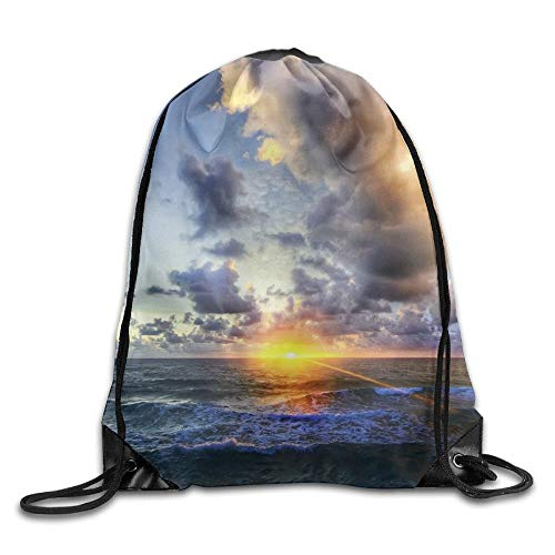 HLKPE Bright Nature Clouds Light Drawstring Bag for Traveling Or Shopping Casual Daypacks School Bags -