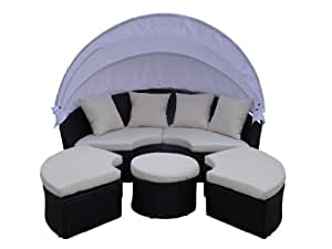 poly rattan liege sonnenliege strandkorb bett gartenm bel garten m bel sessel stuhl. Black Bedroom Furniture Sets. Home Design Ideas