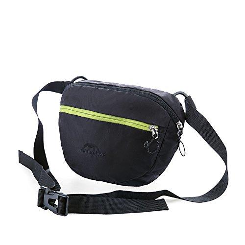 HYSENM Borsa a tracolla marsupio cintura Daypacks Borsa Outdoor vita quotidiana, verde nero