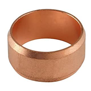10MM OD COPPER OLIVE - Copper (Brass compression fittings, metric) - PACK SIZE: 1x20