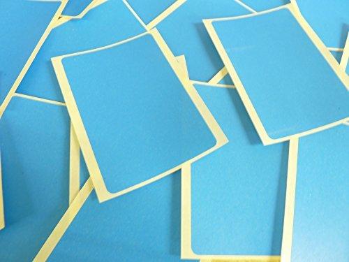 Grande 99x65mm Rectangular Azul Medio Código De Color Pegatinas, 20 autoadhesivo Rectángulos Adhesivo Etiquetas Colores