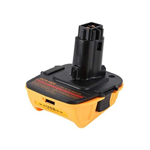 Prima05Sally DCA1820 20V Max to 18V USB Batterieadapter für Dewalt MAX XR DCB200 DCB201 DCB203 DCB203BT DCB204 DCB205 Kompaktbatterien - 20 Volt Usb Dewalt