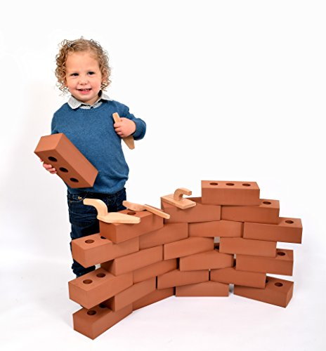Life Size Foam Construction Building Blocks Toy Role Play Realistic by Playlearn (Pack of 25)