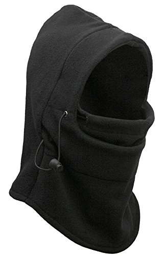 KAIKSO-IN Mens Motor Bike Hut Gesicht warme Outdoor-Sport-Biking Wandern Maske Hood Schwarz (Hut Kostüme Maske)