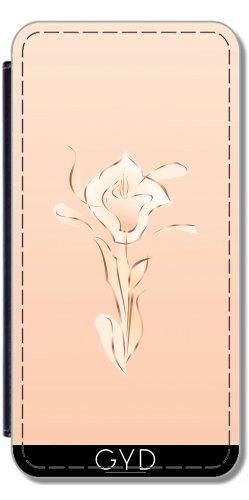 Leder Flip Case Tasche Hülle für Apple iPhone 6/6S - Roségold Abstrakte Lilie Erröten by Nina Baydur Lederoptik