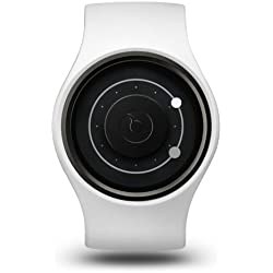 ZIIIRO Orbit Unisex Silikon / Edelstahl Watch Snow Grey wechselbare Uhr