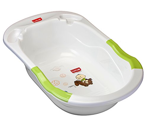 Luvlap Baby Bubble Bathtub with Anti Slip (Green)