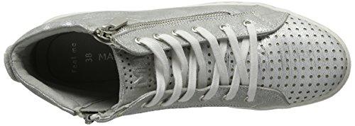 Marco Tozzi 25200, Scarpe da Ginnastica Alte Donna Argento (Silver Comb 948)