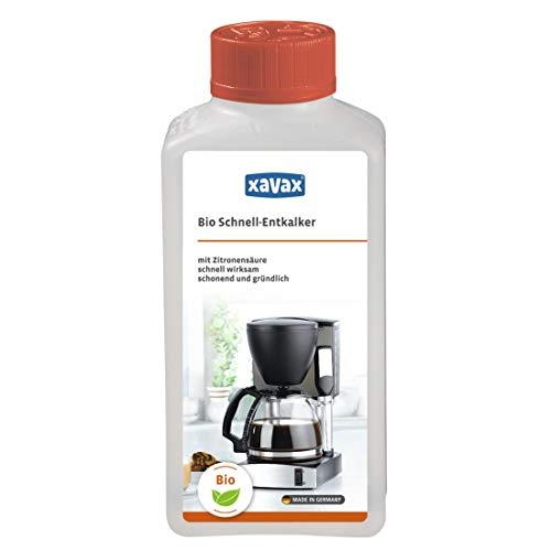 Xavax Bio Schnell-Entkalker 250 ml (auf Zitronensäure-Basis, flüssig, z.B. für Kaffeevollautomaten, Wasserkocher, Espresso-/Kaffeemaschinen, Edelstahl Oberflächen etc) Entkalkungsmittel