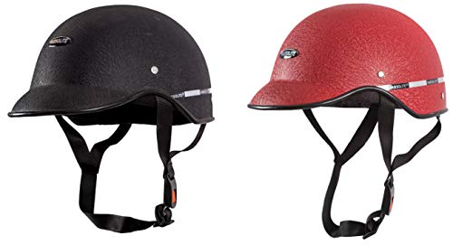 Habsolite All Purpose Safety Helmet with Strap - Black and Red Combo