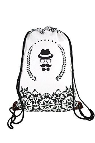 Segeltuch Sporttaschen Rucksack Fashion Original Hipster turnbeutel schwarz geometric Tasche Tüte Beutel Hipster für Reisen / Sport Unisex beutel jutebeutel sportbeutel Gym bag Gymsack Tasche Tüte