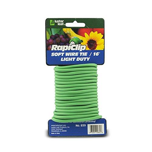 Lustre Feuille 856 Rapiclip Vinyle extensible Tie, Marron Light Duty Green