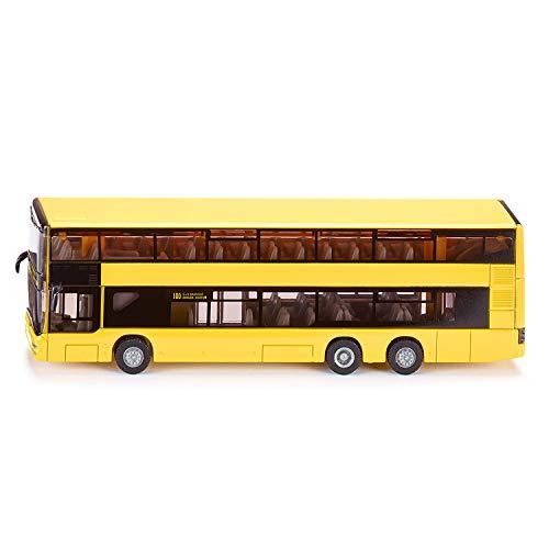 SIKU 1884, MAN Doppelstock Linienbus, 1:87, Metall/Kunststoff, Gelb, Bereifung aus Gummi