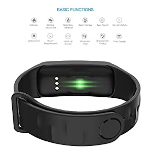 Wearfit WF M8 OLED Touch Pedometer Smart Bracelet (Black)
