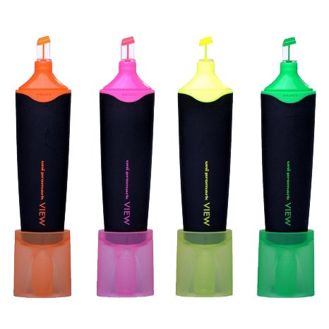 uni-ball-promark-vista-marcador-naranja-fluorescente-usp-200-twistable-transparente-punta
