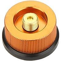 huayang  adaptador de tanque de gas tanque de gas butano convertir adaptador de aluminio, color dorado