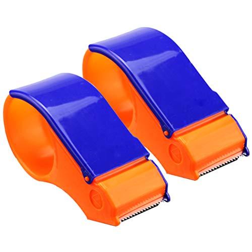 Yardwe 2 STÜCKE Paketband Handabroller für Paketband Klebebandspender Verpackung Bandspender 5cm Breite Office Tape Dispenser Büro Schulbedarf