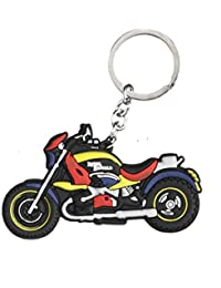 Techpro Soft Rubber Keychain Double Sided With Royal Enfield Bike Design