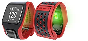 TomTom Runner Cardio GPS Running Watch - Red/Black (Certified Refurbished) from TomTom
