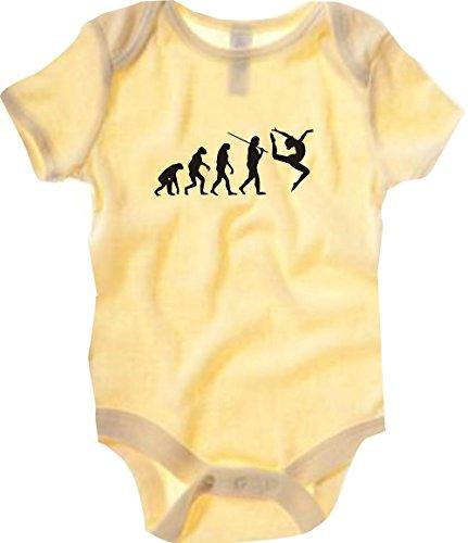 Tanz Ballett Kostüm Nussknacker - Unbekannt Krokodil Baby Body Evolution Gymnastik,Tanz,Akrobatik,Bodenturnen,Ballet Farbe gelb, Größe 6-12 Monate