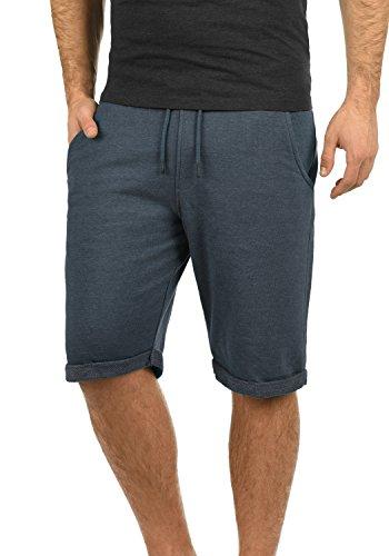 Blend Antique Herren Sweatshorts Kurze Hose Sport-Shorts aus hochwertiger Baumwollmischung Meliert, Größe:XL, Farbe:Mood Indigo (74648) - Metall-herren-shorts