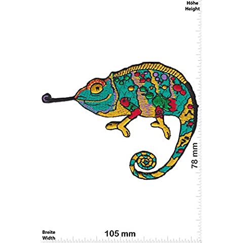 Patch - Cameleon - Animals Patch - Vest - Iron on Patch - toppa - applicazione - Ricamato termo-adesivo - Give Away