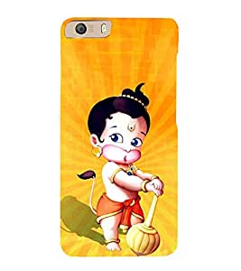 Little Hanuman 3D Hard Polycarbonate Designer Back Case Cover for Micromax Canvas Knight 2 E471