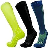 Abgestufte Kompression Socken für Männer & Frauen  EU 39-42 // UK 6-8 Schwarz - 1 Paar