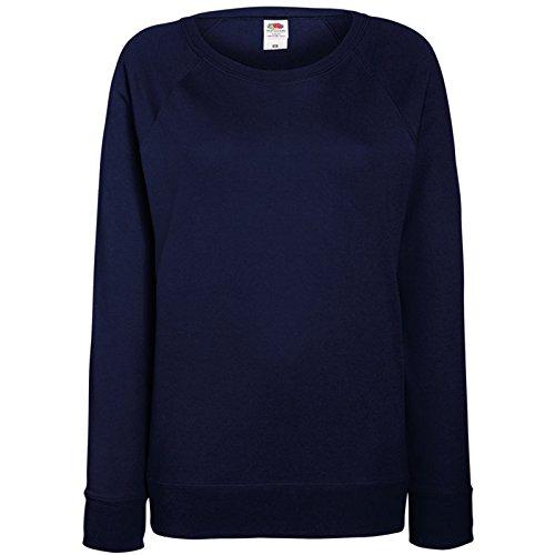 Fruit OF The Loom Damen Raglan Sweatshirt M,Marineblau