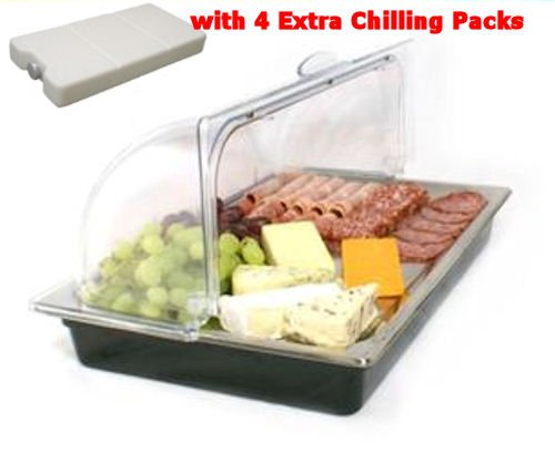 gastronorm-size-roll-top-chilled-display-cooling-unit-with-8-freezer-packs-ideal-for-breakfast-bars-