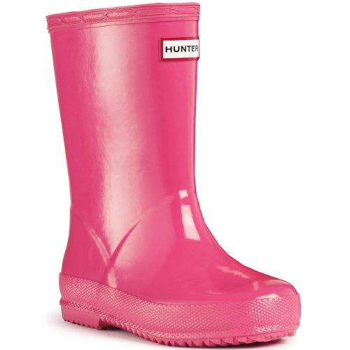 Unisex Kinder Hunter Kinder First Gloss Regen Wasserdicht Gummistiefel Fuschia