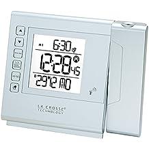 La Crosse Technology wt517-sil–Despertador de viaje con proyección de Silver