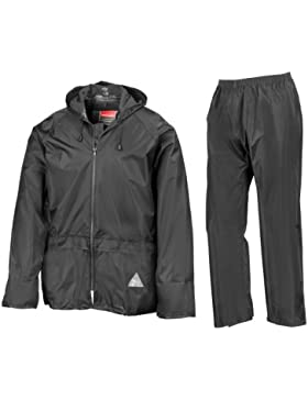 Result - Traje Impermeable /Conjunto Impermeable / chubasquero 2 piezas (conjunto chaqueta y pantalón) Grueso