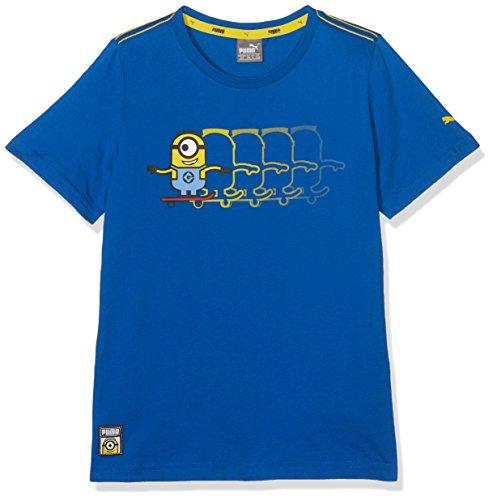 Puma Kinder Minions Tee T-Shirt, Lapis Blue, 164 -