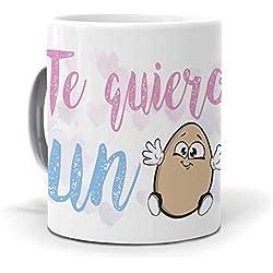 "Taza ""Te quiero un huevo"" san valentin"