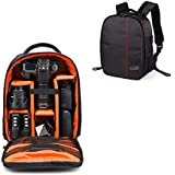 Smiledrive Waterproof DSLR Backpack Camera Bag, Lens Accessories Carry Case for All SLR Cameras-Made in India