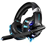 K2A Stereo Game Headset für Xbox One, PS4, PC - mit kristallklarem Sound, LED-Beleuchtung und Noise Cancelling-Mikrofon