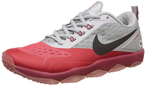 Nike Men's Air Zoom Flyware Red and Grey Running Shoes - 8.5 UK/India (43 EU)(9.5 US)(819803-111)  available at amazon for Rs.4498