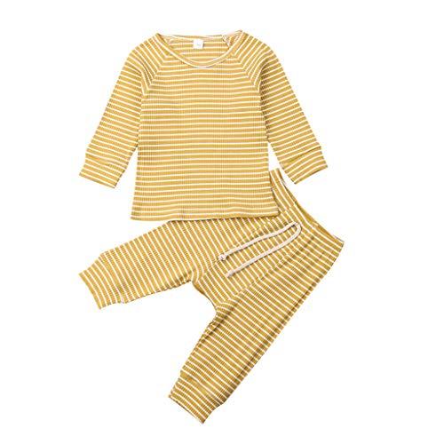 0-18 Monate Baby Jungen Mädchen Nachtwäsche Outfits, sunnymi Langarm Gestreifte Tops + Hosen Schlafanzüge