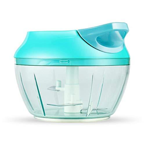 BenCreative Gadget Artefatto Cucina Anti-Caduta Ispessimento Verdure e Carne Blender Chopper a Mano Blue