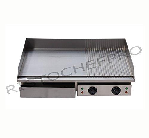 Piastra elettrica in acciaio inox professionale fry top piastra liscia